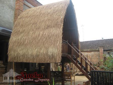 Gazebo Panggung Atap Alang Alang Ukuran Glugu Jati