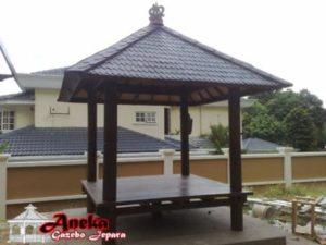 Gazebo Taman Tanpa Pagar