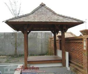 Gazebo Jati Klasik Atap Sirap