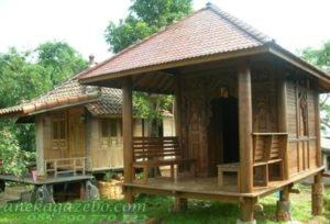 Rumah Gazebo Kayu Glugu