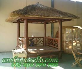 Gazebo Atap Alang Alang Pagar Silang | Jual Gazebo Glugu | Jati | Model Terbaru | Harga Murah