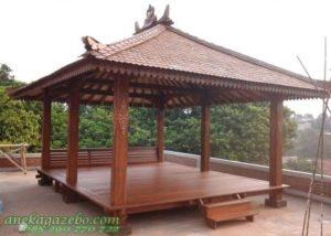 Gazebo Taman Besar Kayu Kelapa