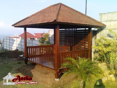 gazebo rumah kayu jati harga jual ukuran terbaru