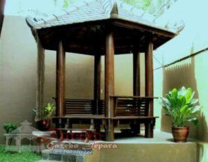 Gazebo Minimalis Taman Segi 6