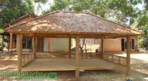 Gazebo Besar Kayu Glugu Atap Sirap