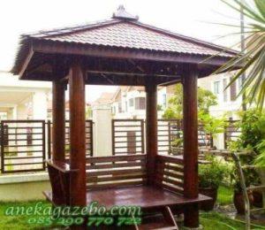 Gazebo Taman Rumah Kayu Glugu Sirap